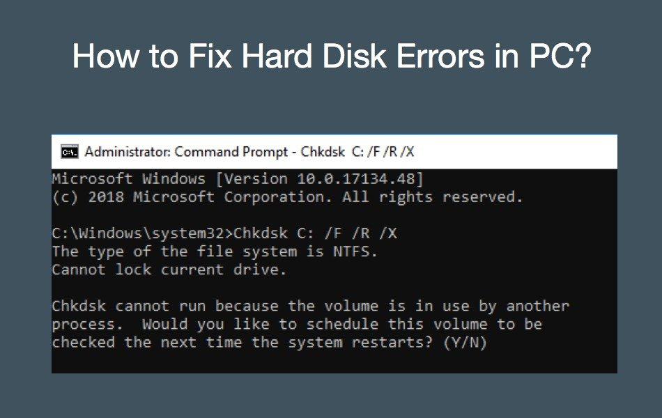 chkdsk Command Errors