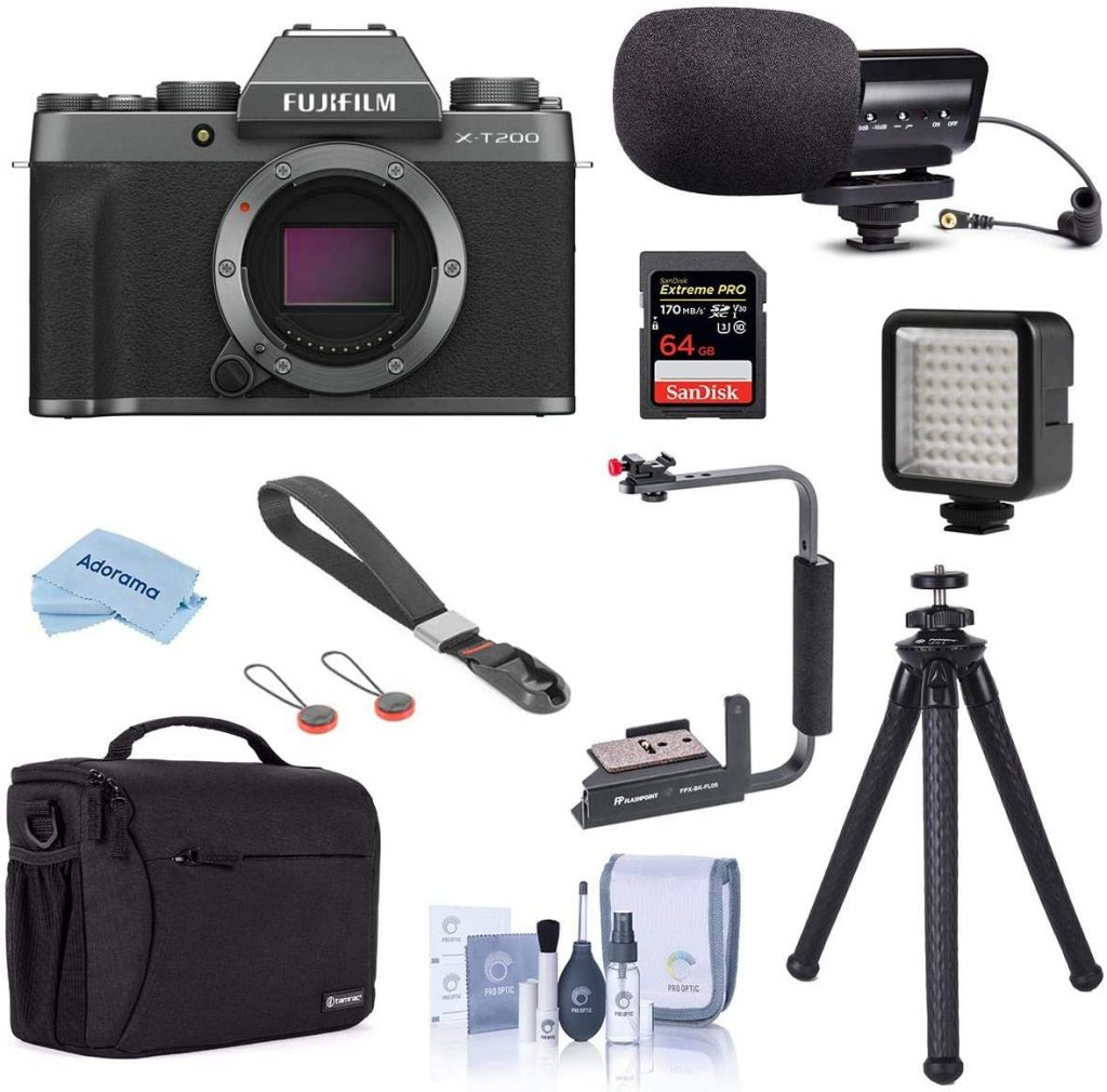 Fujifilm X-T200 Mirrorless Camera Body Dark Silver