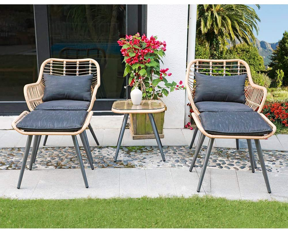 set of 4 patio furniture tropical