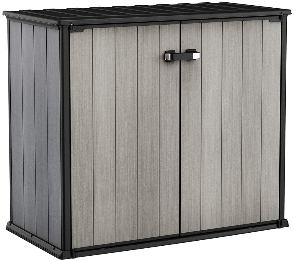 Tidyard Outdoor Storage Shed Storage Cabinet with 2 Shelves Black